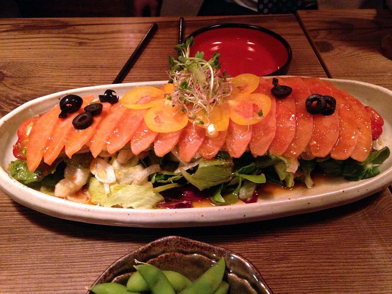 만다린 연어 샐러드