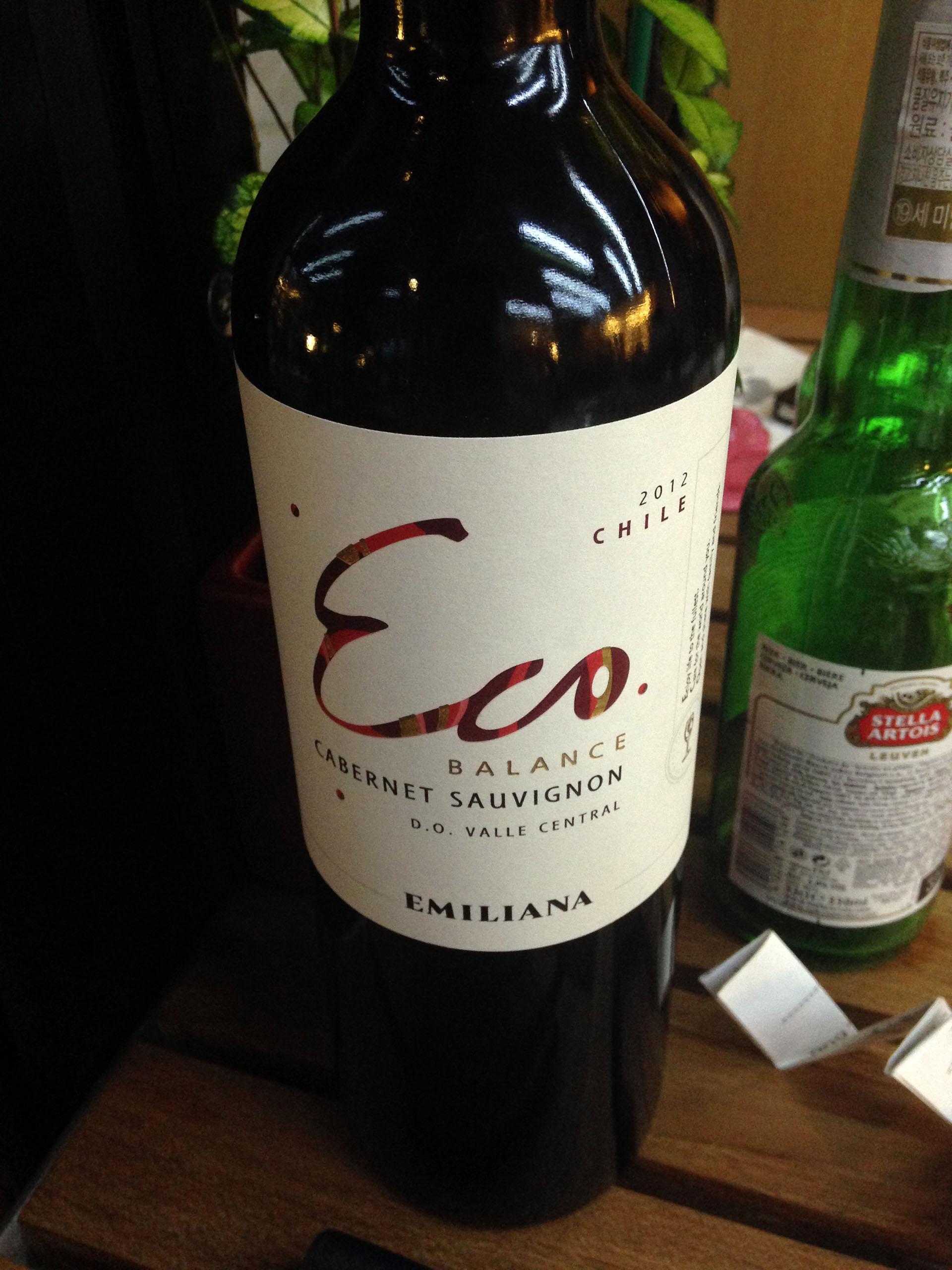 Emiliana, Ecobalance Cabernet Sauvignon 2012