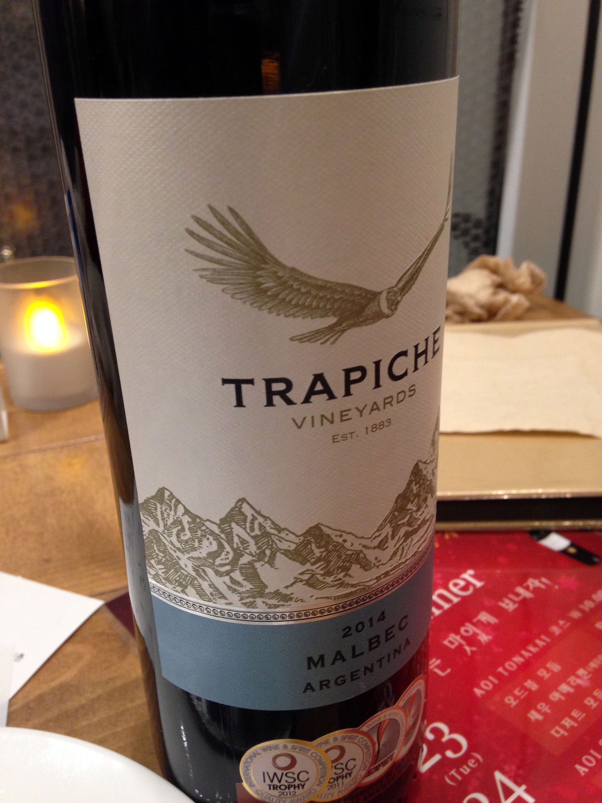 Trapiche Vineyard Malbec 2014 Argentina