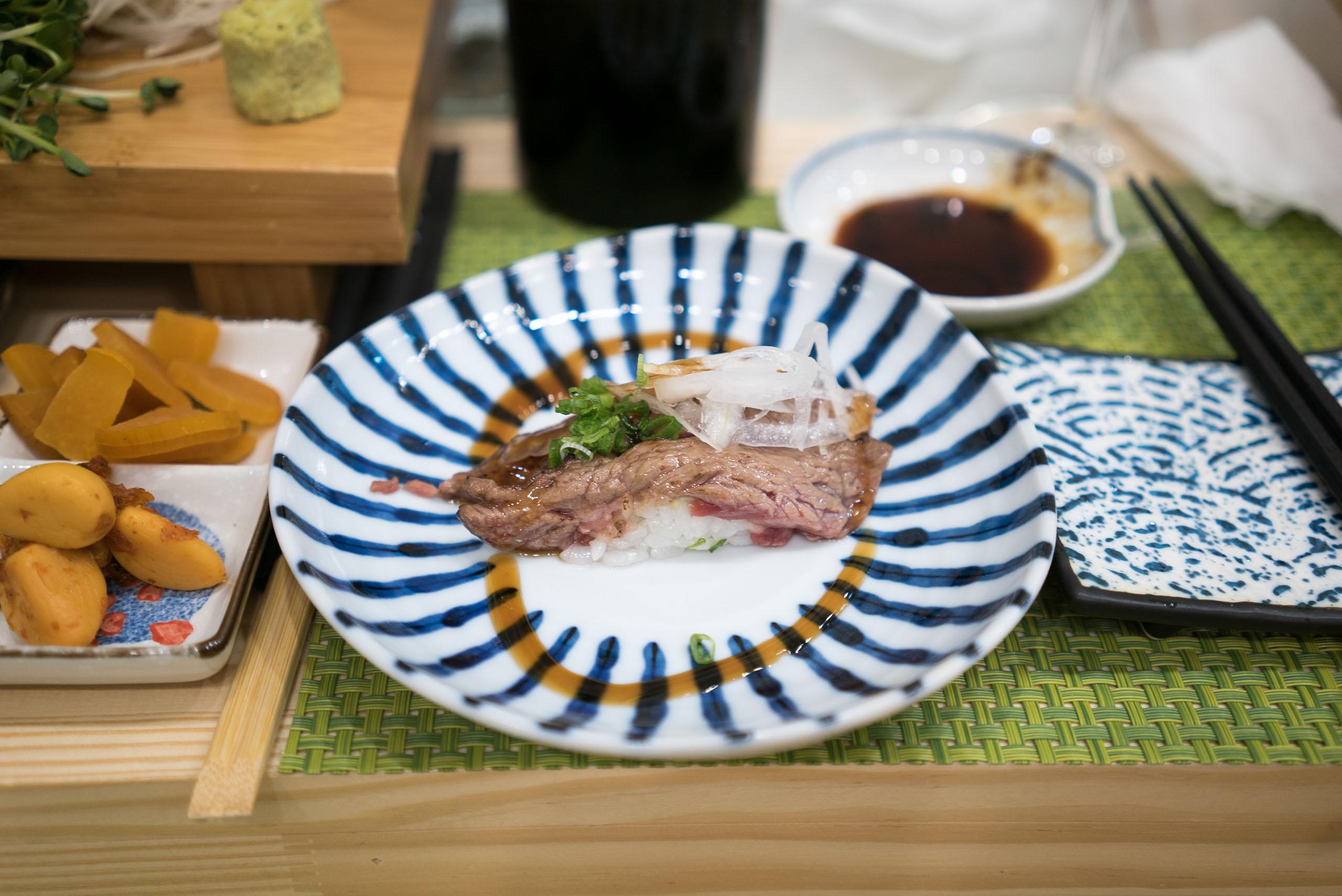 소고기 겉익힘 초밥