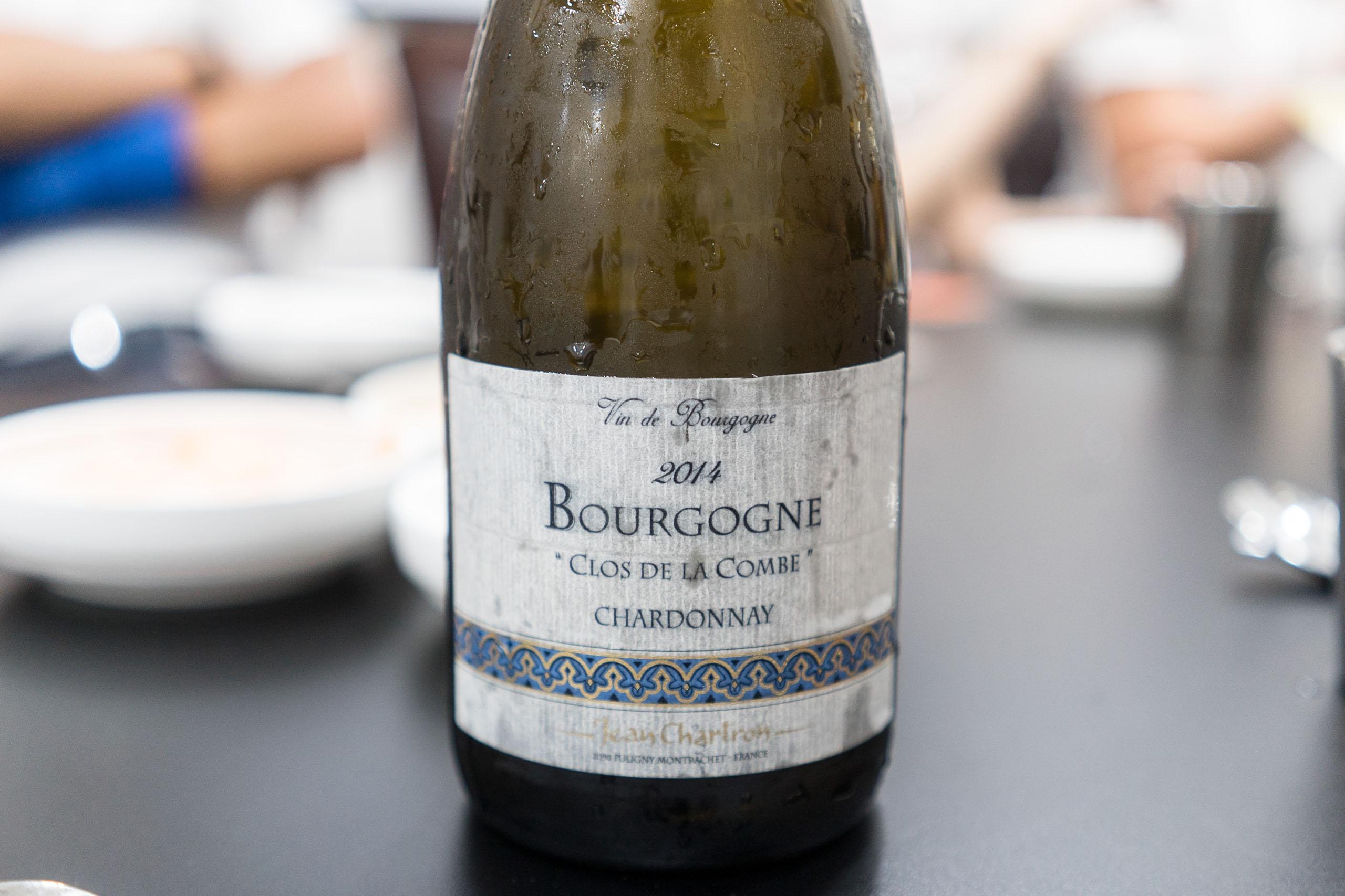 Domaine Jean Chartron, Bourgogne Clos de la Combe Chardonnay 2014