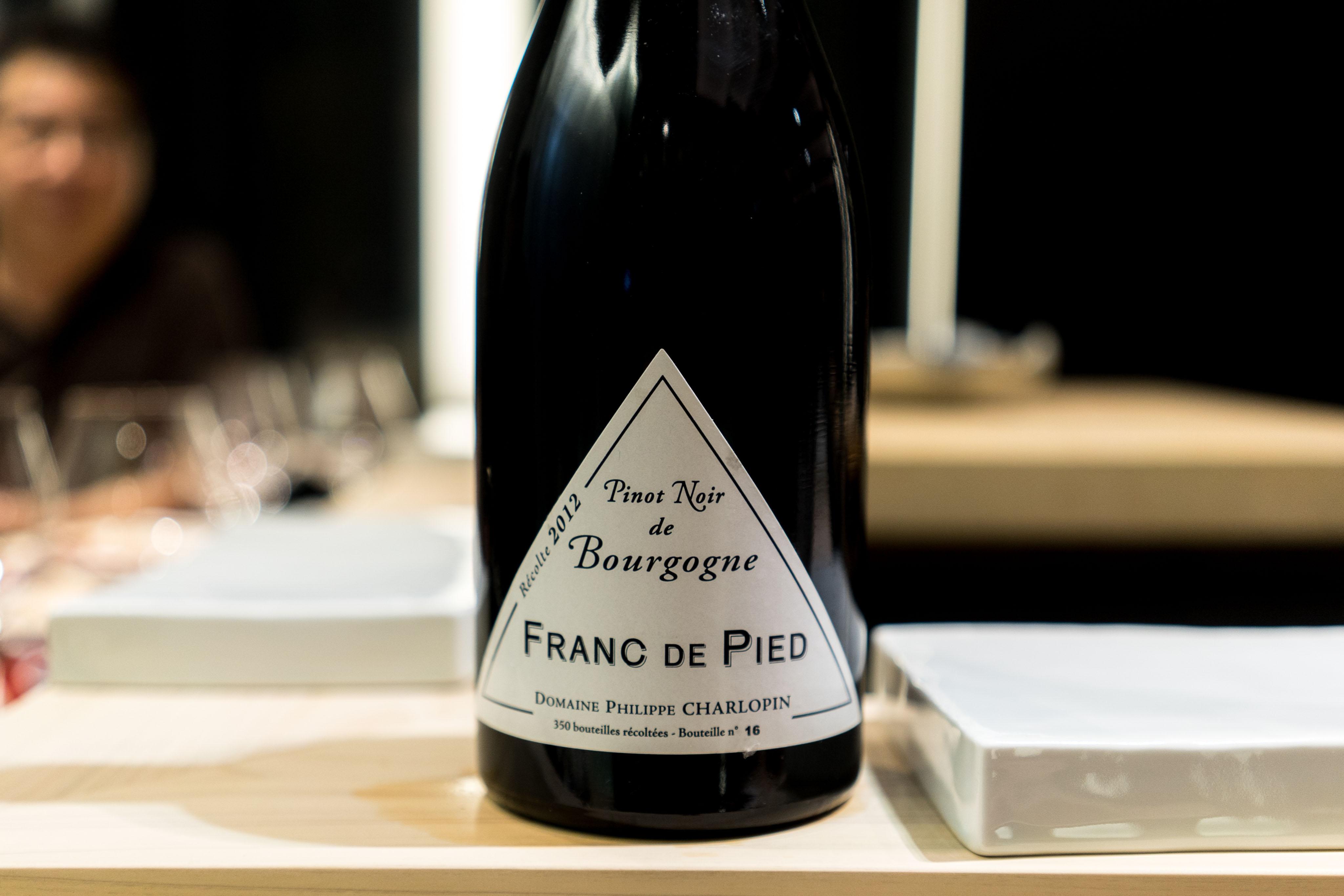 Domaine Philippe Charlopin-Parizot Franc de Pied Bourgogne de Pinot Noir 2012