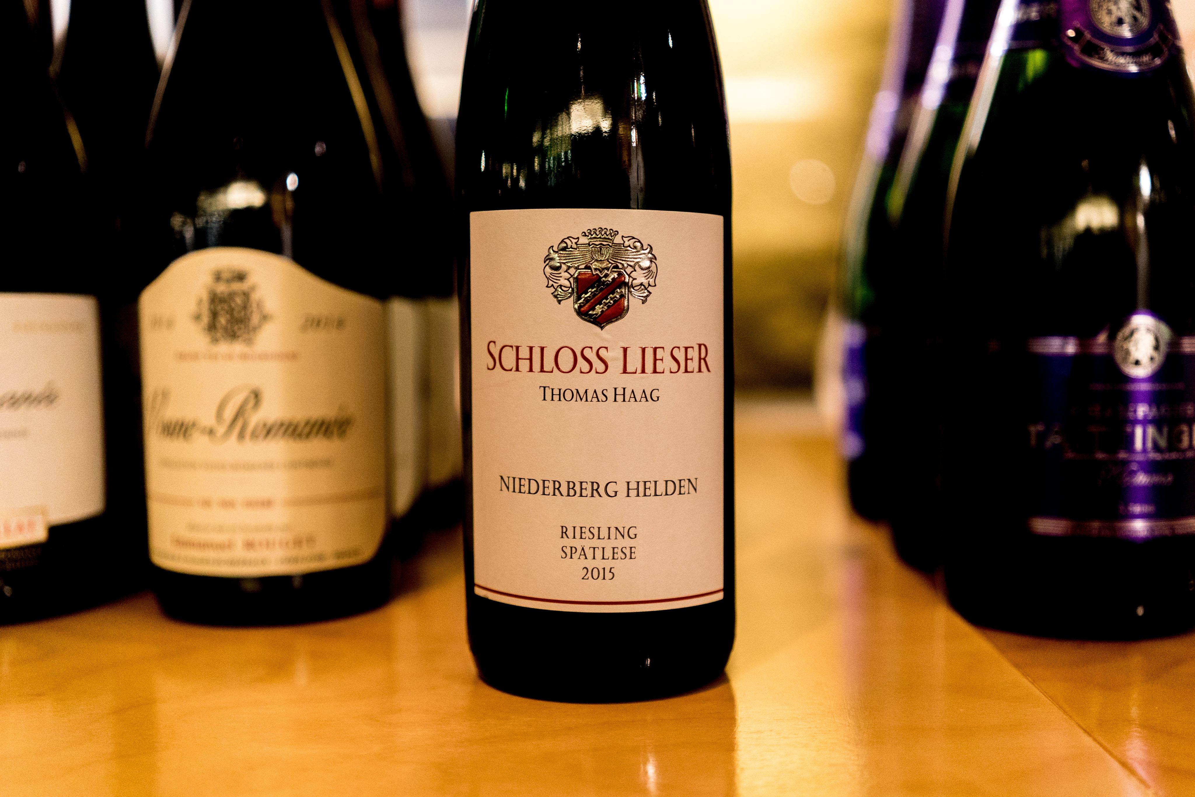 Schloss Lieser Niederberg Helden Riesling Spatlese 2015