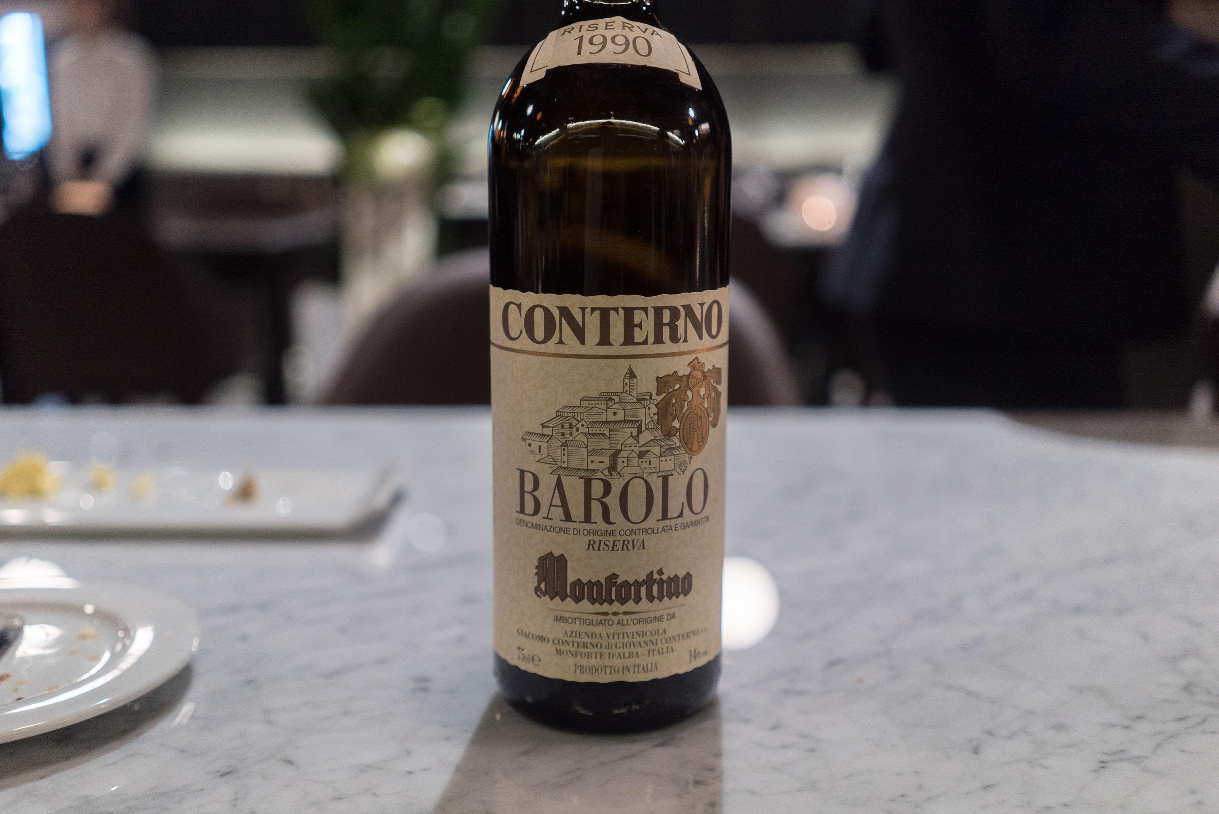 Giacomo Conterno Barolo Monfortino Riserva 1990
